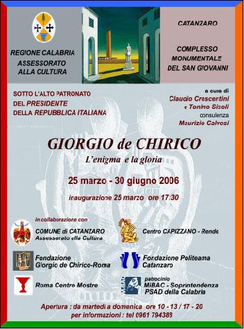 L'Enigma e la Gloria - Giorgio De Chirico