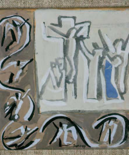 Mario Sironi (1885 - 1961), Crocifissione, tempera su carta - Museo Baroffio Sacro Monte