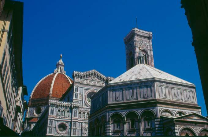 Bell Tower, Cathedral and Baptistery in Florence
