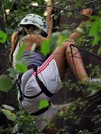 Parete di arrampicata allo SkyPark di Perticara di Novafeltria