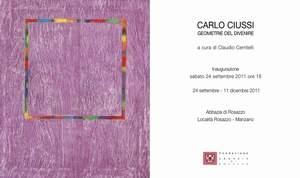 Carlo Ciussi - Senza Titolo 2011 - Courtesy of A Arte Studio Invernizzi