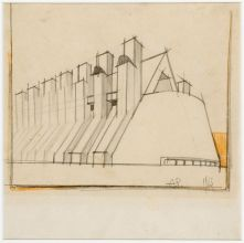 Antonio sant 39 elia disegni dalla collezione civica for Architetto sant elia