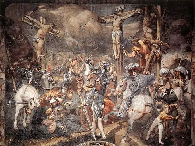 Crucifixion of the counter-facade