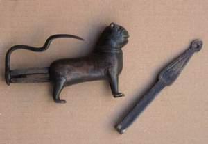 Lucchetto da scrigno a forma di leone