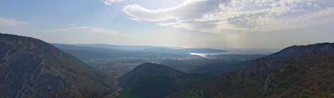 Panorama di Trieste dal Carso