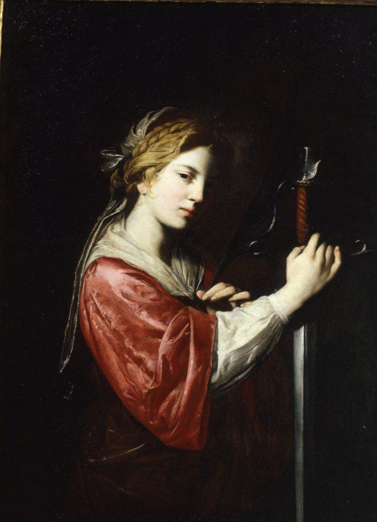 Artemisia Gentileschi la santa Caterina dagli Uffizi