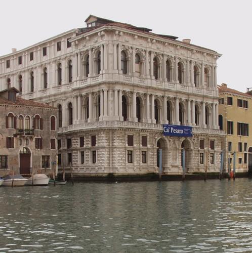 Facciata del Palazzo sul Canal Grande - Venezia, Ca' Pesaro - Galleria Internazionale d'Arte Moderna
