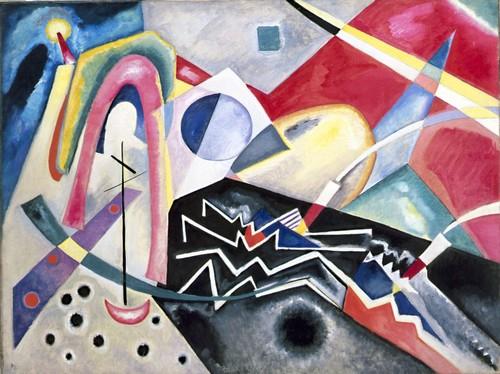 Wassily Kandinsky (1866 - 1944) Zig Zag bianchi (1922) Olio su tela, cm. 95 x 125 - Venezia, Ca' Pesaro-Galleria Internazionale d'Arte Moderna, Salone Centrale