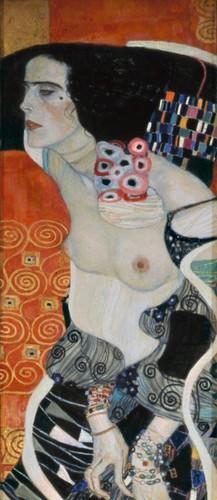 Gustav Klimt (1862 - 1918) Giuditta II (Salomé), (1909) Olio su tela, cm. 176 x 46 - Venezia, Ca' Pesaro - Galleria Internazionale d'Arte Moderna, Salone centrale