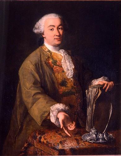 Alessandro Falca detto Longhi (1733 - 1813) - Ritratto di Carlo Goldoni - Olio su tela , cm. 125 x 105 - Venezia, Casa di Carlo Goldoni