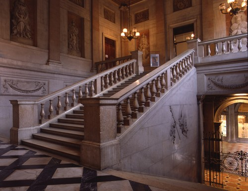 Veduta dello Scalone Monumentale - Venezia, Museo Correr
