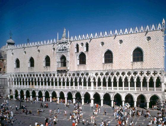 Venezia, Facciata del Palazzo Ducale verso la Piazzetta