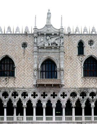 Venezia, Particolare della facciata del Palazzo Ducale verso la Piazzetta