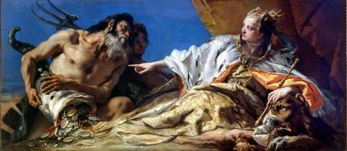 Giambattista Tiepolo (1696 - 1770): Venezia e Nettuno (1745 - 1750) - Venezia, Palazzo Ducale, Sala delle Quattro Porte