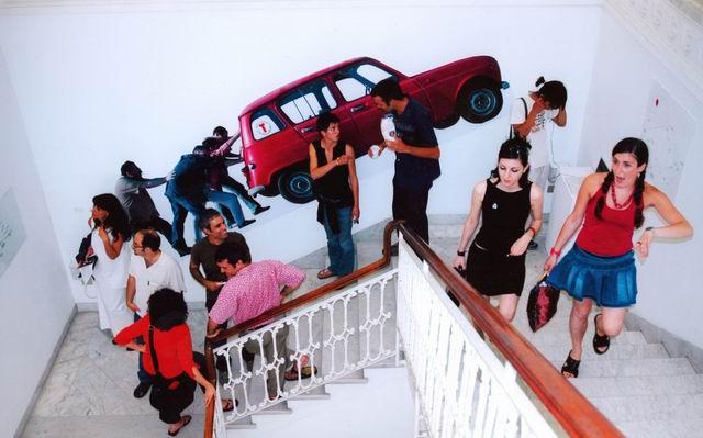 Mostra Empowerment cantiere Italia 2004, foto di Mario Parodi - Museo d'Arte Contemporanea di Villa Croce