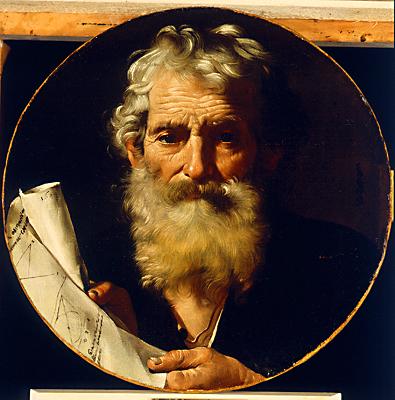 Raccolta dipinti spagnoli, Jose (Jusepe)De Ribera (1591 -1652): Ritratto di matematico 1644 - (Galleria Parmeggiani - Reggio Emilia)