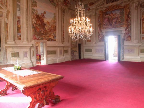 Villa Malinverni: Salone Centrale