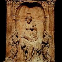 Donatello: Madonna col Bambino tra due angeli e profet