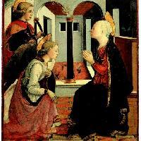 Filippo Lippi: Annunciazione alla presenza di san Giuliano