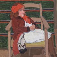 Oscar Ghiglia Bambina con fiocco rosso 1911 Olio su cartone, 37,7x33,4 cm Collezione privata Credito fotografico: Antonio Quattrone