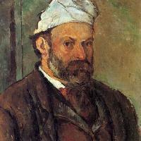 Paul Cézanne, Autoritratto col berretto bianco, 1881-1882