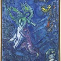 Marc Chagall, La lotta di Giacobbe e l'angelo