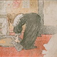 Henri de Toulouse-Lautrec Donna alla tinozza dall'album Elles 1896