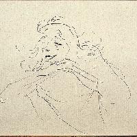 Henri de Toulouse-Lautrec Study of Y. Guilbert (I) 1894