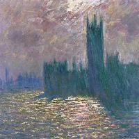 Londra. Il Parlamento. Riflessi sul Tamigi, 1905