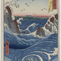 Utagawa Hiroshige Awa. I gorghi di Naruto 1855