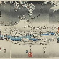 Utagawa Hiroshige e Utagawa Kunisada I Veduta con la neve 1853