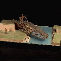 ponte girevole a profilo parabolico