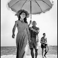 Pablo Picasso e Françoise Gilot, Golfe-Juan, Francia, agosto 1948