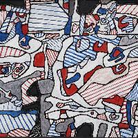 Jean-Dubuffet-Site-domestique-au-fusil-espadon-avec-tête-dInca-et-petit-fauteuil-à-droite-1966-©-2018-Adagp-Paris-Siae-Roma