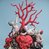 Gruppo con Amore, tritoncelli e coralli
