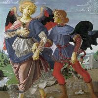 Andrea del Verrocchio e bottega L'arcangelo Raffaele e Tobiolo