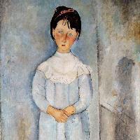 Fillette en bleu, 1918