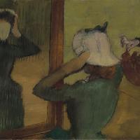 Edgar Degas (1834-1917). Dalla modista (At the Milliner), ca. 1882-85. Olio su tela, 61,6×73,6 cm. Virginia Museum of Fine Arts, Collection of Mr. and Mrs. Paul Mellon, 2001.27. Image © Virginia Museum of Fine Arts.  Edgar Degas (1834-1917). Dalla modis