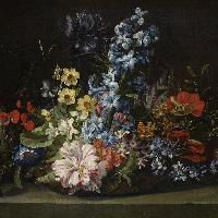 Attribuito a Jan van den Hecke, Cesto di fiori, XVII secolo