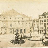 Piazza della Scala. Milano, 1880 ca.