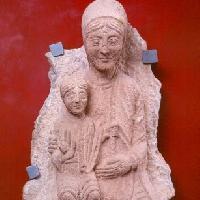 Domenico e Lanfranco da Ligurno, Madonna col Bambino, scultura, fine secolo XII - Museo Baroffio del Sacro Monte