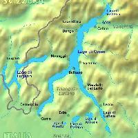 Mappa del Lago di Como