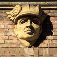 Particolare di Mercurio in palazzo forlivese (Foto Cristina Paglionico - Archivio fotografico Provincia Forlì - Cesena)