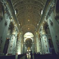 Basilica San Pietro, interno - Foto APT Roma
